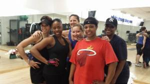 I love these ladies! They come to class ready to work and kick butt!!