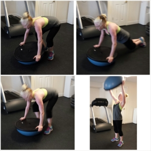 Again, my client Nicole is KILLING IT with these bosu burpees.